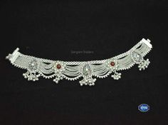 Payal Designs Silver, Silver Anklets Designs, Silver Payal, Anklet Designs, Gold Bangles Design, Gold Earrings Designs, Gold Jewellery Design, Silver Jewellery Online, Indian Jewelry Sets