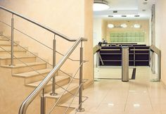 "Tripod Turnstiles TTR-04.1 and card capture reader IC-03, business center ""18.93"", St. Petersburg, Russia"
