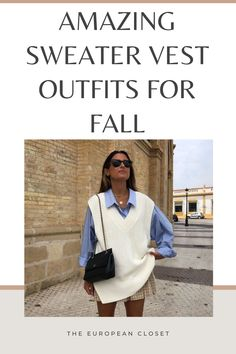Looking for sweater vest outfit ideas? Look no further. Today I'm sharing with you how to style a sweater vest.   sweater vest outfits   sweater vest outfit ideas   how to style a sweater vest   how to wear a sweater vest   sweater vets outfit women   sweater vest outfit aesthetic   sweater vest outfit fall   sweater vest outfit winter   sweater vest outfits for women   sweater vest outfits korean   knit vest outfit