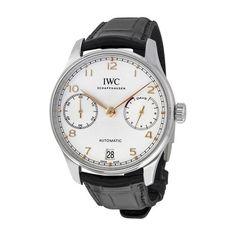 IWC Portugieser Automatic Black Strap Men's Watch (W-IW500704)