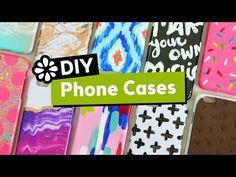 10 Cute & Easy DIY Phone Cases | Sea Lemon - YouTube