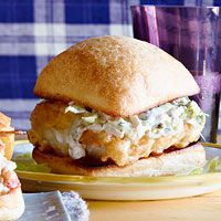 Fishwiches, 30-Minute Meal | http://www.rachaelraymag.com/recipe/fishwiches/