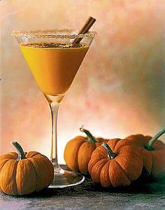 Autumn Martini Cocktail