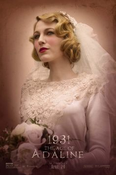 Blake Lively with retro wedding hair // The Age of Adaline 1931