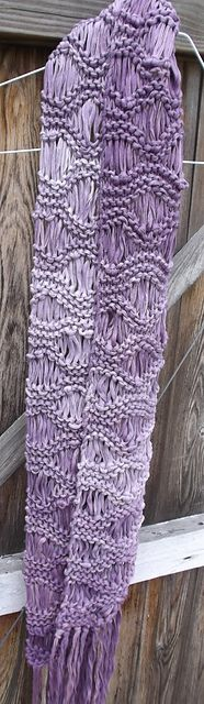 Knitting Patterns Galore - Delphi Drop Stitch Scarf