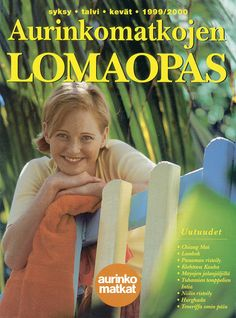 #Aurinkomatkat lomaopas syksy, talvi, kevät 1999-2000 #retro Lombok, Chiang Mai, Panama, Retro, Tenerife, Panama Hat, Retro Illustration, Mid Century