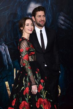 Emily Blunt and John Krasinski at Into the Woods premiere