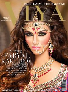 Faryal Makhdoom is almost unrecognisable on the Viya Magazine Issue 8 cover. Her jewellery set including the nath #nosering is from Kyles Collection