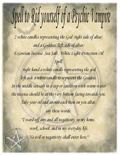 Psychic Vampire Book of Shadows Spell Pages and The Morrigan Spell Ritual Book… Vampire Spells, Vampire Books, Witchcraft Spells For Beginners, Magick Spells, Luck Spells, Hoodoo Spells, Jar Spells, Magick Book, Healing Spells