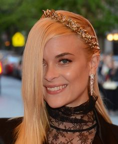 Jaime King looked like a real punk princess in a Dauphines of New York crown #MetGala