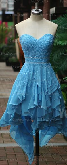 Tiffany blue sweetheart ruffle homecoming dress