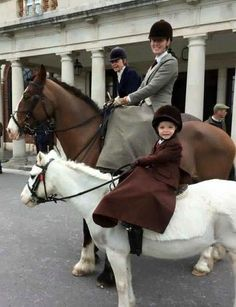 """Is this a record? Three generations of the same family riding sidesaddle out with the Royal Artillery today at their last meet of the season. Four-year-old Chloe Gross is pictured with her mother Tommie and grandmother Trisha Badham (photo courtesy of Sarah Badham) ""."