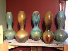 Wood-Fired Vases by Michael Schael, Rock Eagle Pottery.  One of the Eight Studio Potters of the Clay Collective. Rock Eagle Pottery is located at 2297 Clearview Road in Cambridge, WI. The studio will be open during The Clay Collective Pottery Tour on May 4 & 5, 2013. http://www.theclaycollective.org