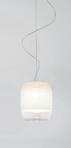 GONG pendant lamp in white . minimal design | lighting . Beleuchtung . luminaires | Design: Prandina |