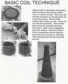 Jake Allee Ceramic Projects: Hand Building Technique