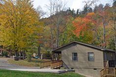 Fontana Village Resort - Cabin rentals in fall colors.