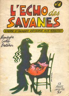 L'Écho des Savanes 04 - 1973 - illustration Bretécher