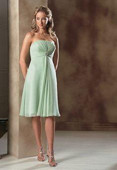 Celadon Green Chiffon A Line Bridesmaid Dress Wedding Mint Chelsea