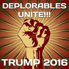DEPLORABLES UNITE! TRUMP 2016!!! Stay Deplorable my friends!  ~@guntotingkafir