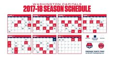 Here's the Washington Capitals schedule for the 2017-18 season