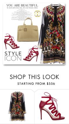 """""""You are beautiful"""" by oxyk23 ❤ liked on Polyvore featuring Roberto Cavalli and Jimmy Choo"""