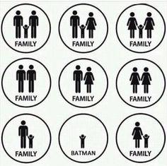 Poor batman... no family