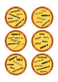 Hra DOBBLE - vybrané slová po P - Nasedeticky.sk Dyslexia, Educational Activities, Montessori, Teaching Materials, Educational Crafts