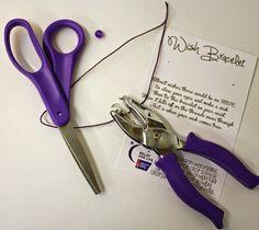 Relay For Life Wish Bracelet tutorial