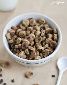 Homemade Protein Cookie Crisp Cereal Recipe – 2 Ways (use organic sugar) this site also has other great gluten free/vegan/soy free cereal recipes using protein powder! (cocoa puffs, vanilla puffs, cinnamon toast crunch)