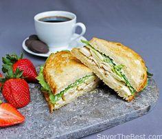 Chicken Caesar Sandwich [romaine lettuce, chicken breast - cooked, parmesan, garlic]