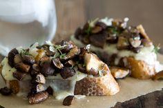 Mouthwatering Mushroom and Fontina Tartine from @WhatsGabyCookin