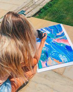 Fluid art Art Music, Beach Mat, Outdoor Blanket, Action, Group Action