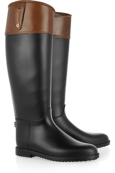 Hunter |   rag & bone leather-effect Wellington boots - so mine ...