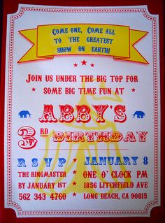 Circus Birthday | Angela Rudy | Flickr