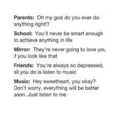 And people still wonder why I am obsessed with music/bands (Five Seconds Of Summer, My Chemical Romance, Panic! At The Disco, etc.) to be honest, this literally sums up my life. I Love Music, Music Is Life, Music Music, Boom Music, Perfect Music, Music Books, Music Stuff, Music Quotes, True Quotes