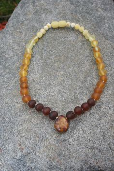 Raw / Unpolished Baltic Amber Teething Necklace by EstanysFlame, $22.00