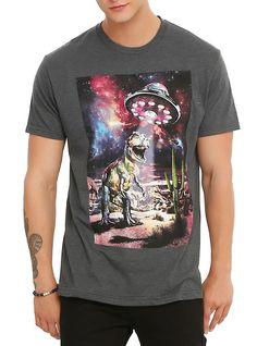 UFO T-Rex Desert T-Shirt, BLACK