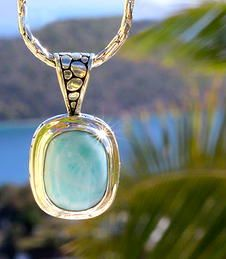 Hawksnest Pendant by Vibe Collection #saintjohn #larimar #usvi #jewelry