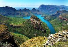 Het uitkijkpunt God's Window in Zuid-Afrika. Simpelweg mooi!