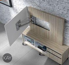 Baixmoduls presenta los paneles giratorios para televisión de su catálogo de mueble moderno, Kay