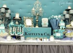 20 Most Creative Candy Buffets You've Ever Seen . Take a look at the candy buffets that were designed to drop jaws with their extravagant backdrops, Tiffany Sweet 16, Tiffany Blue Party, Tiffany Theme, Tiffany Birthday Party, Tiffany Box, Blue Birthday, Sweet 16 Birthday, Paris Birthday, Blue Candy Buffet
