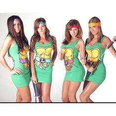 Ninja Turtle Dresses. Cowabunga...