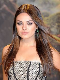 Straight and smooth Adding volume to the sides of the hair is a no-no for women with round faces. Mila Kunis' more tamed style and length perfectly accentuate the roundness of her face rather than hiding it. To get this look, just flat iron hair until it's totally straight, then add essential oil for extra shine. #hairtreatment #laofoyehaircare #hairgrowth #haircaretips