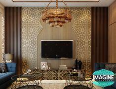 Arabic Decor, Islamic Decor, Morrocan Interior, Japanese Restaurant Interior, Jaali Design, Tv Cabinet Design, Interior Architecture, Interior Design, Living Room Sofa Design