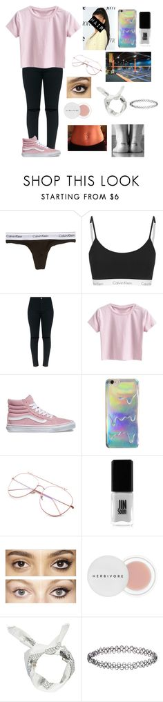 """Skyzone‼️"" by amarianamichelle ❤ liked on Polyvore featuring Calvin Klein Underwear, Vans, GURU, JINsoon, Zone, Charlotte Tilbury, Herbivore, Boohoo, Accessorize and fun"