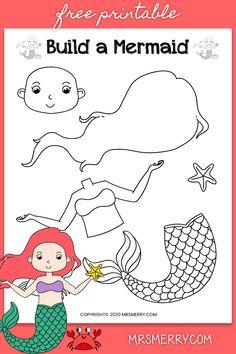Little Mermaid Crafts, Mermaid Kids, The Little Mermaid, Diy For Kids, Crafts For Kids, Mermaid School, Kindergarten Art Projects, Mermaid Theme Birthday, Sea Crafts