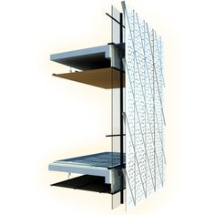 Light and heat gain controlling facade. Modular assembly. Dynamic Facade. Helps in creating large homogenous volume. DDDmodel.com Milos Moravac