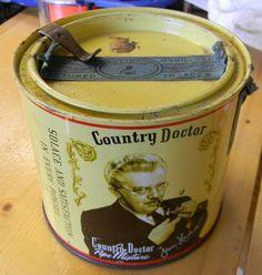 Rare Vintage COUNTRY DOCTOR Pipe Mixture TOBACCO Tin Phillip Morris Phillips Morris, Bond Street, Vintage Country, Coffee Cans, Tobacco Pipes, Tins, Antiques, Ebay, Places