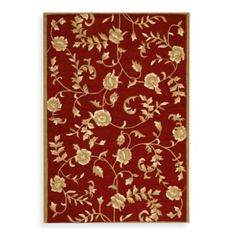 Safavieh EZ Care Floral Accent Rugs in Red/Gold - BedBathandBeyond.com