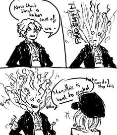 Funny Sabo with his new power